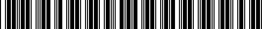 Barcode for PT21842121AA